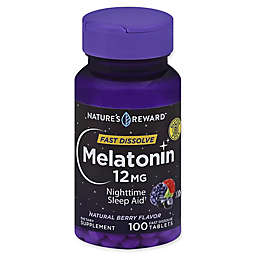 Nature's Reward™ 100-Count 12 mg Melatonin Fast Dissolve Tablets in Natural Berry Flavor