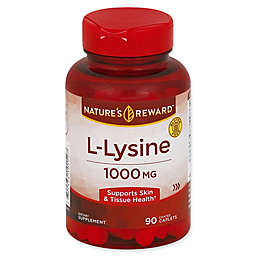 Nature's Reward 90-Count 1000 mg L-Lysine Coated Caplets