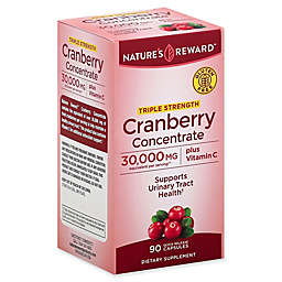 Nature's Reward 90-Count 30,000 mg Triple Strength Cranberry Concentrate Quick Release Capsules