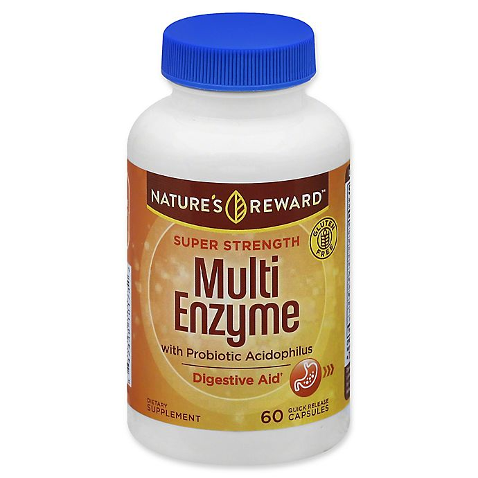 Alternate image 1 for Nature's Reward™ 60-Count Super Strength Multi Enzyme with Probiotic Quick Release Capsules