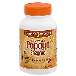 Nature's Reward 180-Count Papaya Enzyme Chewable Tablets