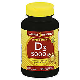 Nature's Reward 360-Count Super Potency 5000 IU Vitamin D3 Quick Release Softgels