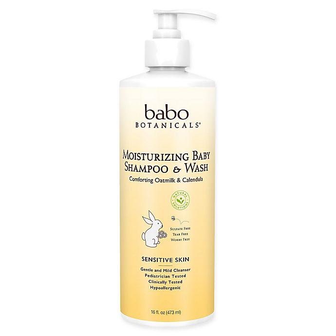 Alternate image 1 for babo Botanicals® 16 oz. Moisturizing Baby Shampoo & Wash in Oatmilk & Calendula