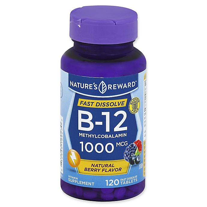 Alternate image 1 for Nature's Reward 120-Count 1000 mcg Vitamin B-12 Fast Dissolve Tablets in Natural Berry Flavor