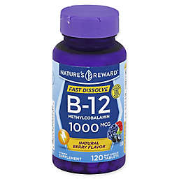 Nature's Reward 120-Count 1000 mcg Vitamin B-12 Fast Dissolve Tablets in Natural Berry Flavor