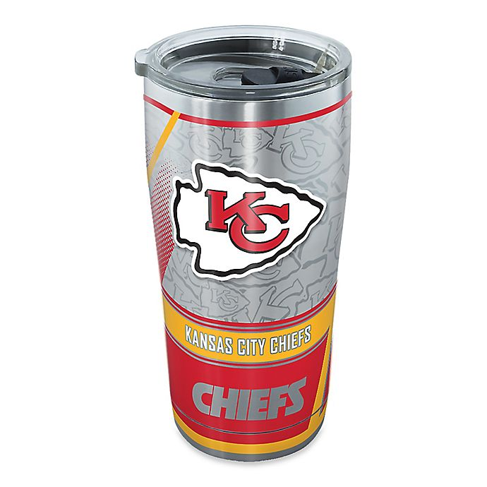 Alternate image 1 for Tervis® NFL Kansas City Chiefs 20 oz. Edge Stainless Steel Tumbler with Lid