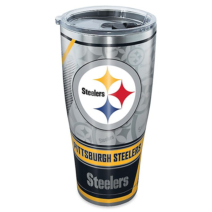 Alternate image 1 for Tervis® NFL Pittsburgh Steelers 30 oz. Edge Stainless Steel Tumbler with Lid