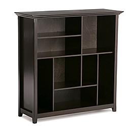 Simpli Home Amherst Multi-Cube Storage Unit in Dark Brown