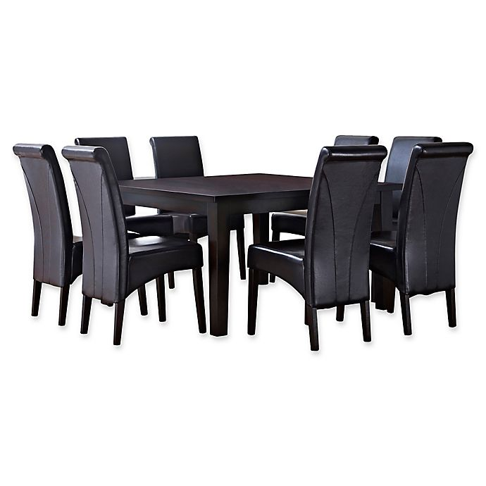 Alternate image 1 for Simpli Home Avalon 9-Piece Dining Table Set