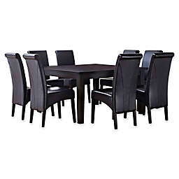 Simpli Home Avalon 9-Piece Dining Table Set