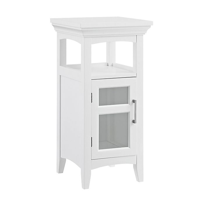Alternate image 1 for Simpli Home Avington 14-Inch Floor Storage Cabinet in White
