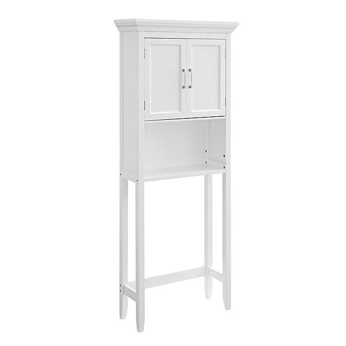 Alternate image 1 for Simpli Home Avington Over the Toilet Space Saver Cabinet in White