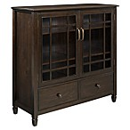 Simpli Home Connaught 46-Inch Cabinet with Drawers in Dark Chestnut Brown