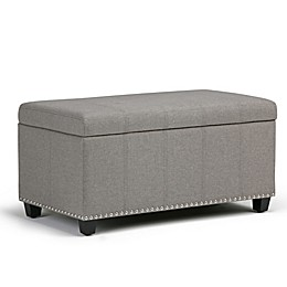Simpli Home Amelia Upholstered Storage Bench