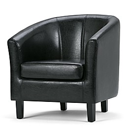 Simpli Home Austin Faux Leather Tub Chair
