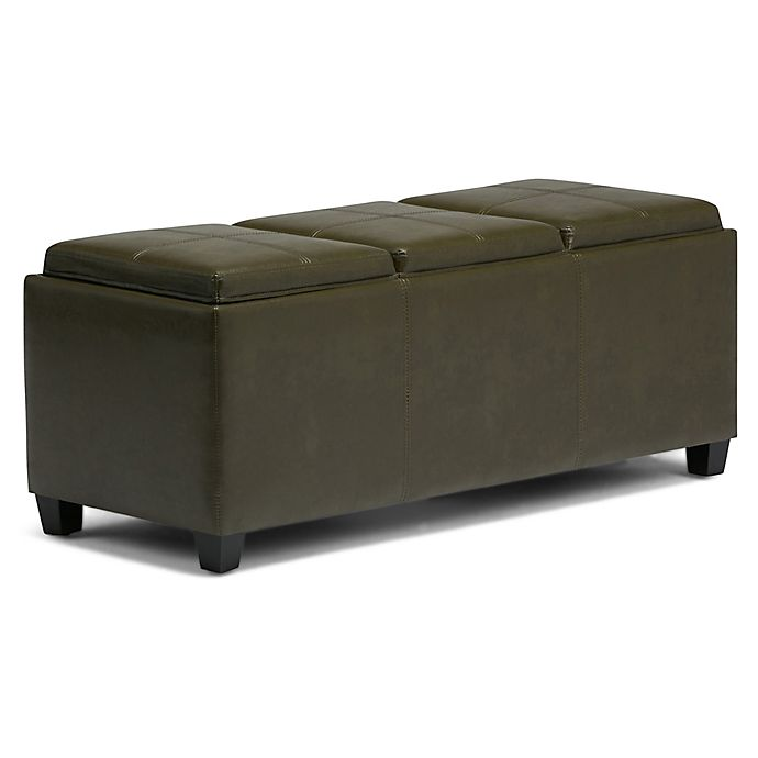 Magnificent Simpli Home Avalon 3 Tray Storage Bench Bed Bath Beyond Bralicious Painted Fabric Chair Ideas Braliciousco