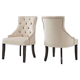 iNSPIRE Q® Treviso Velvet Tufted Hourglass Dining Chairs (Set of 2)