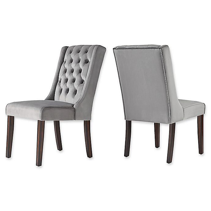 Stupendous Inspire Q Radcliffe Velvet Wingback Dining Chairs Set Of 2 Pabps2019 Chair Design Images Pabps2019Com
