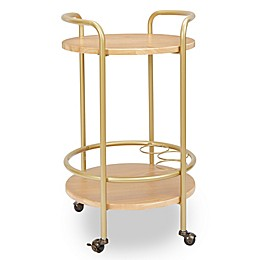 Silverwood London Round 2-Tier Bar Cart in Gold