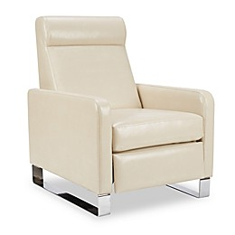 Madison Park Percy Push-Back Recliner in Ivory