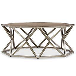 Verona Home Odin Octagonal Coffee Table in Grey