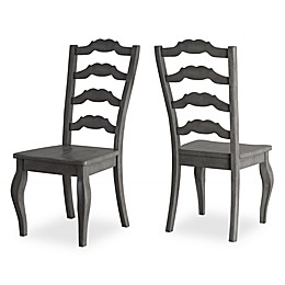 Verona Home Marigold Hill Ladder Back Dining Chairs in Grey (Set of 2)