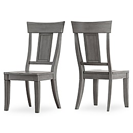 Verona Home Marigold Hill Paneled Back Dining Chairs in Grey (Set of 2)