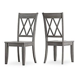 iNSPIRE Q® Marigold Hill X-Back Dining Chairs in Grey (Set of 2)