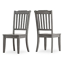 iNSPIRE Q® Marigold Hill Slat Back Chairs in Grey (Set of 2)
