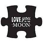 WallVerbs™ Mix & Match Puzzle Wall Art  Love You to the Moon and Back  Piece In Black