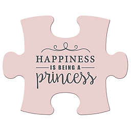 "WallVerbs™ Mix & Match Puzzle Wall Art ""Princess"" Piece in Pink"