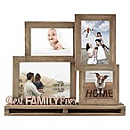 Best Family Ever  4-Opening Decorative Wood and Metal Frame