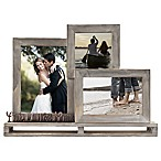 Live Laugh Love  3-Opening Decorative Wood and Metal Frame
