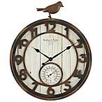 Sterling & Noble Rustic Bird Indoor/Outdoor Wall Clock