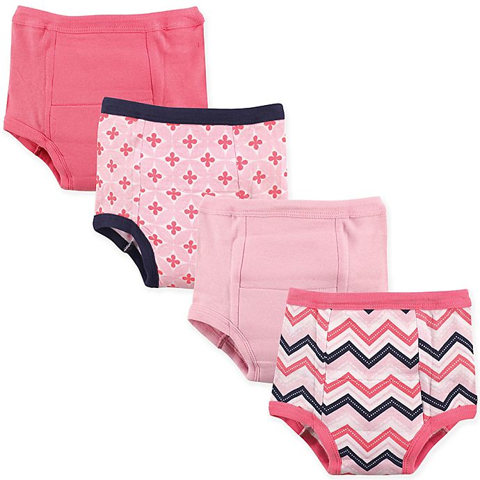 Alternate image 1 for Luvable Friends 4-Pack Chevron Toddler Training Pants in Light Pink
