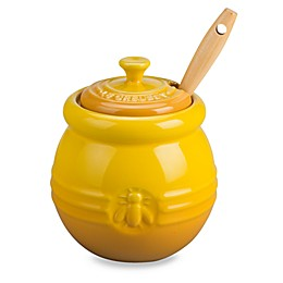 Le Creuset® Honey Pot with Silicone Dipper in Dijon