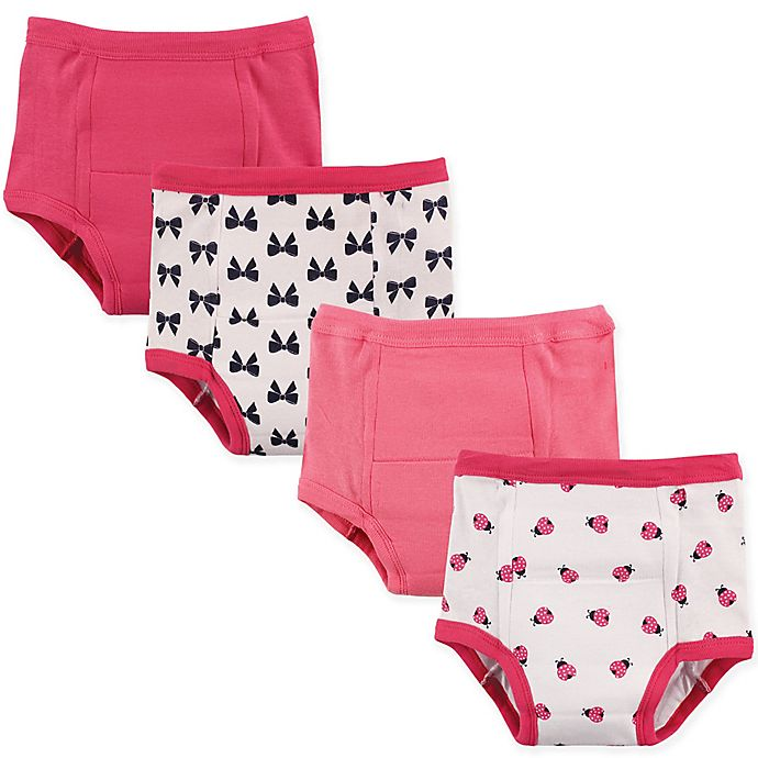 Alternate image 1 for Luvable Friends 4-Pack Ladybug Toddler Training Pants in Pink