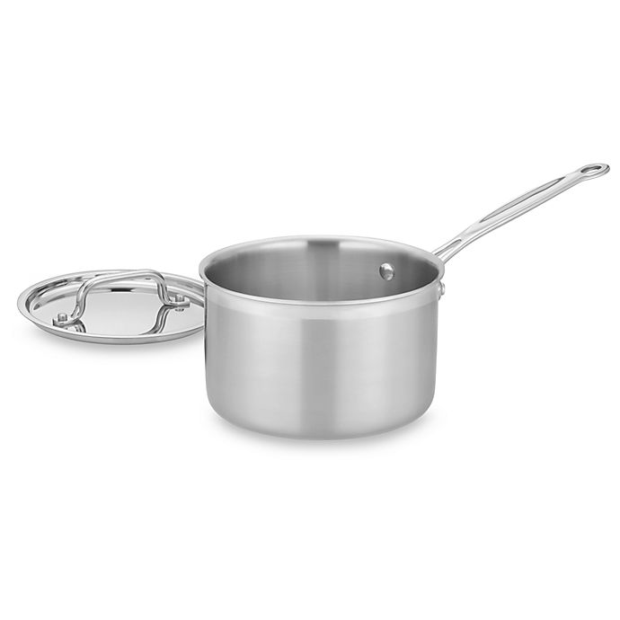 Alternate image 1 for Cuisinart® MultiClad Pro Triple-Ply Stainless 4-Quart Saucepan with Lid