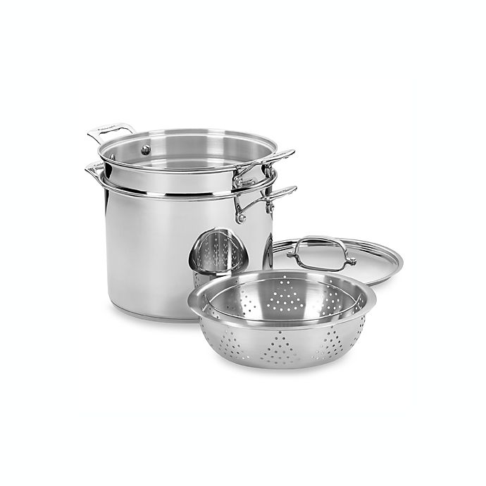 Alternate image 1 for Cuisinart® Chef's Classic™ Stainless Steel 4-Piece 12-Quart Pasta and Steamer Set