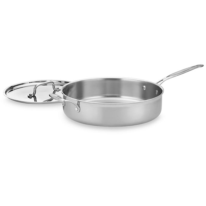 Alternate image 1 for Cuisinart® MultiClad Pro Triple-Ply Stainless 5 1/2-Quart Saute Pan with Lid
