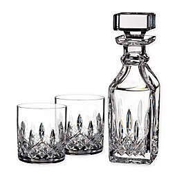 Waterford® Lismore Connoisseur 3-Piece Square Decanter and Tumbler Set