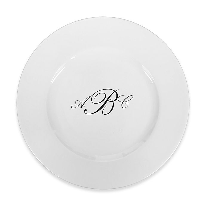 Alternate image 1 for 93 West Maison Rimmed Dinner Plate in White/Black