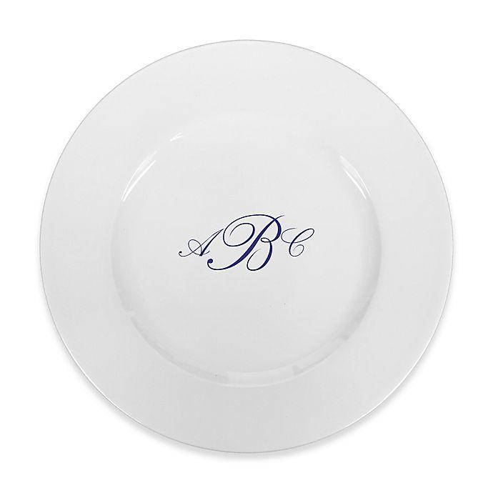 Alternate image 1 for 93 West Maison Rimmed Dinner Plate in White/Blue