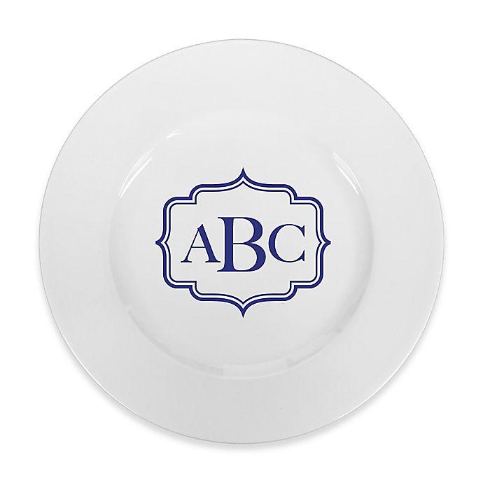 Alternate image 1 for 93 West Maison Rimmed Dinner Plate in White/Blue Frame