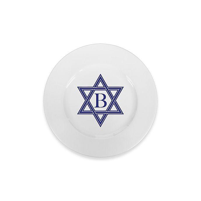 Alternate image 1 for 93 West Maison Rimmed Bread Plate in White/Blue Star