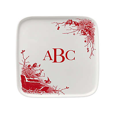 93 West Holiday Birds 9.5-Inch Square Platter