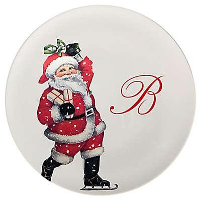 93 West Holiday Santa 11-Inch Round Platter