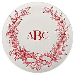 93 West Holiday Wreath 11-Inch Round Platter