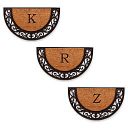 Home & More Plantation Arch Monogram Letter Slice Door Mat