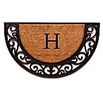 Home & More Plantation Arch Monogram Letter  H  18-Inch x 30-Inch Slice Door Mat